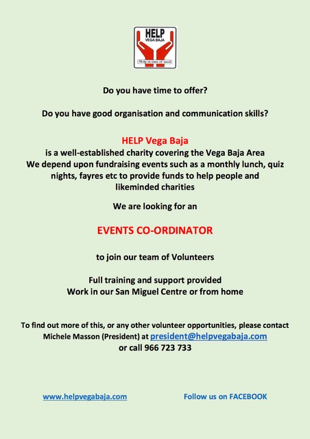 events co ordinator advert
